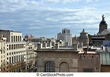 Barcelona Cityscape - Barcelona cityscape at daytime seen...