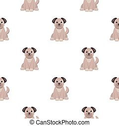 Dog icon in cartoon style isolated on white background. Animal One pattern stock vector illustration