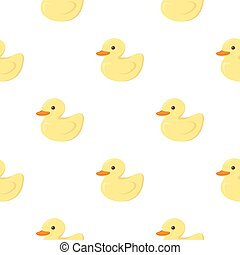 Duck icon in cartoon style isolated on white background. Animal One pattern stock vector illustration