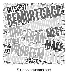 Problem Remortgage text background wordcloud concept