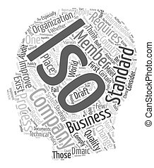Process Change Think ISO 9000 text background wordcloud...