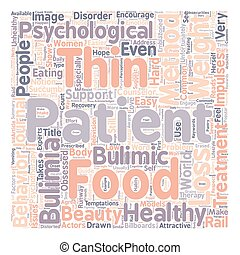 Psychotherapy As Bulimia Treatment text background wordcloud...