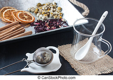 assorted herbal tea