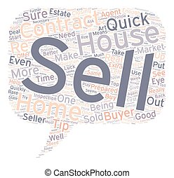 Quick sell tips text background wordcloud concept