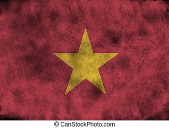 Grunge Vietnam flag. - lllustration - flag of Vietnam on...
