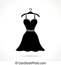 dress icon on white background