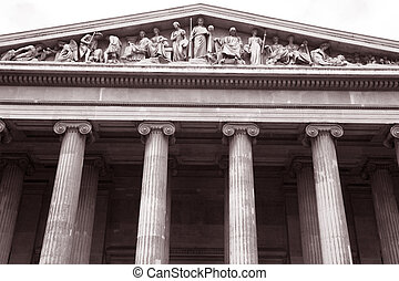 The Main Entrance of the British Museum in London