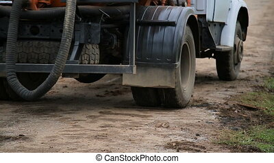truck wheels closeup