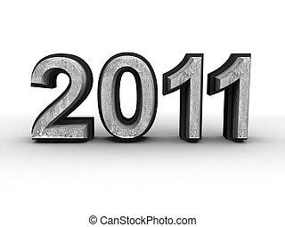 Year 2011 calendar concept