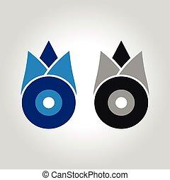 evil eye tulip logo