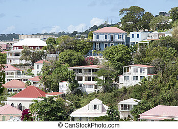 St. Thomas Residential District - The view of red roof...