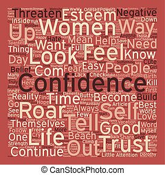 ROAR with CONFIDENCE text background wordcloud concept