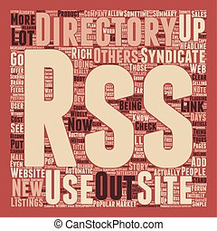 RSS Directories text background wordcloud concept