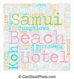 SAMUI ISLAND text background wordcloud concept
