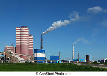 Factory of mineral fertilizer - The day scene of the factory...