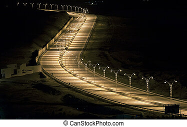 speedway on night - Road to the airport