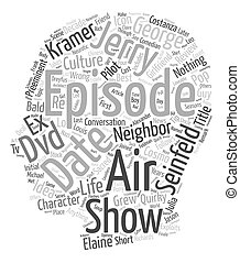 Seinfeld DVD Review text background wordcloud concept