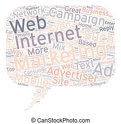 Sell It With Cell And Web text background wordcloud concept