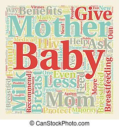 Should I Breastfeed My Baby text background wordcloud...
