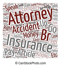 Should you hire an accident attorney text background...