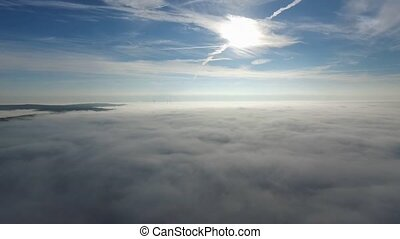 flight over the clouds - germany