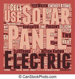 Solar Panels text background wordcloud concept