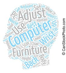 Sort Your Computer Furniture Stay Fitter text background...