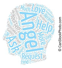 Steps to Connect with your Angels text background wordcloud concept