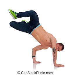 cool looking breakdancer