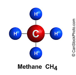 Methane - 3d render of molecular structure of methane...