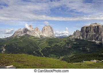 Sasso Lungo, Sasso Piatto and Sella Group - Dolomiti -...