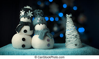 New Year Snowman Couple - Couple of handmade snowmans...