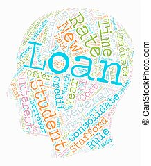 Student Loan Debt Strategies That Work text background wordcloud concept