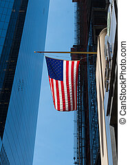 us flag - Us flag in manhattan, new york
