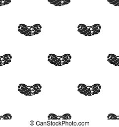 Ask for alms icon in black style isolated on white...