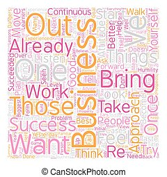 Success Start With Humility text background wordcloud...