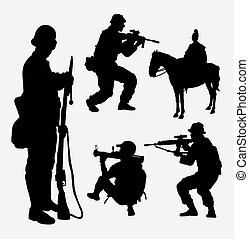 Soldier - Military, soldier, army, shooting activity...