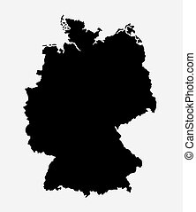 Germany island map silhouette