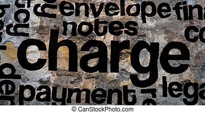 Charge text on crinkled wall