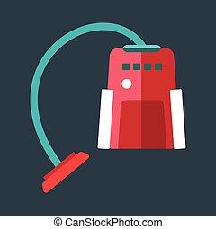 Cleaning vacuum equipment vector. - Professional vacuum...