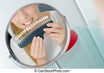 Matching natural tooth shade