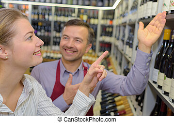 searching for the specific wine