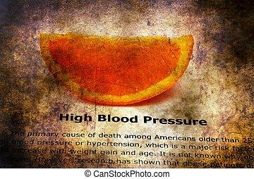 High blood pressure grunge concept
