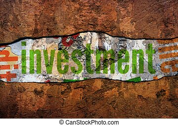 Investment text on wall