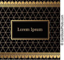 Black and gold decorative background