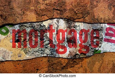 Mortgage text on wall