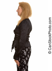 Profile view of senior businesswoman