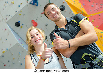 happy with wall climbing