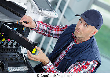 changing the ink cartridge