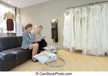 customizing the gown